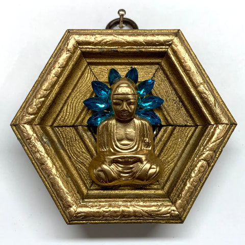 Gilt Frame with Buddha on Brooch (3.25