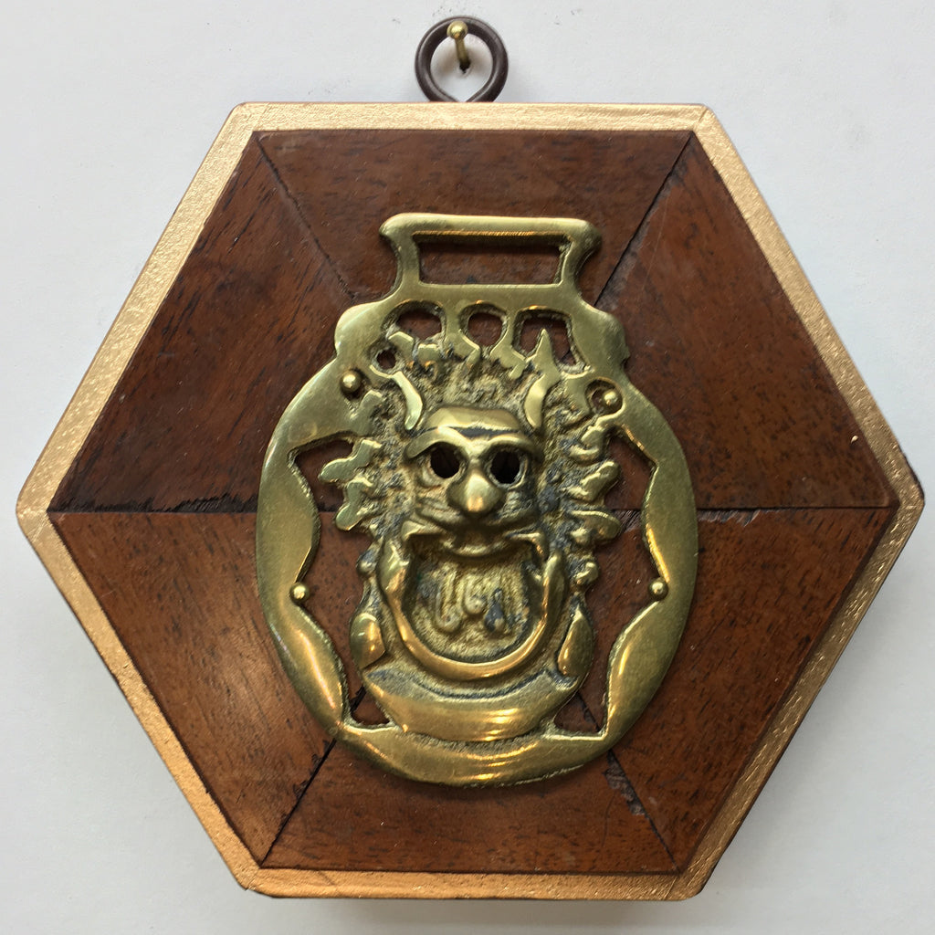 Wooden Frame with Horse Brass (5.75