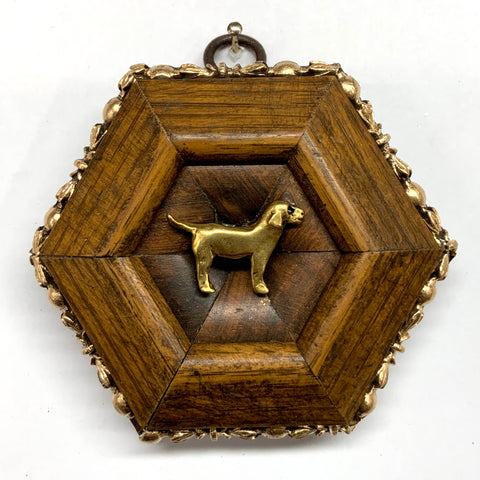 Wooden Frame with Dog (3.75