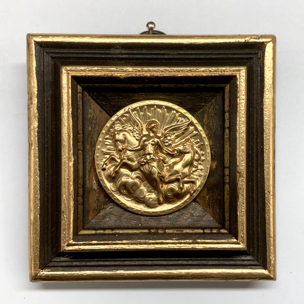 Wooden Frame with Athena Coin (3.5