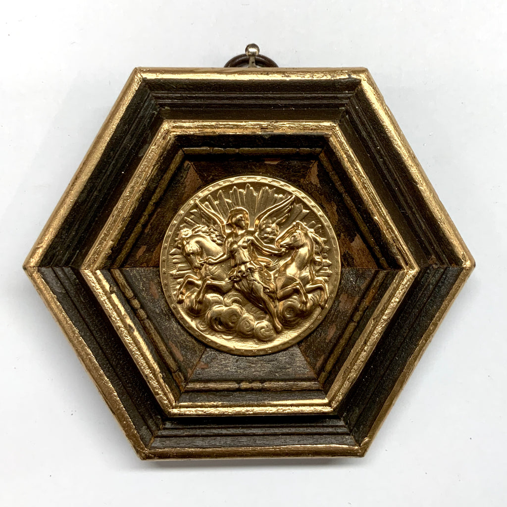 Wooden Frame with Athena Coin (4