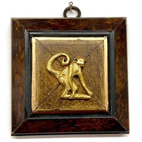 Burled Frame with Monkey (3.75