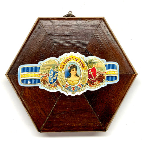Wooden Frame with Cigar Band (4.25