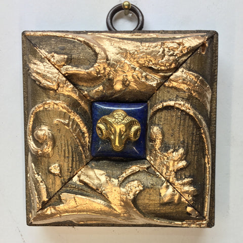 Gilt Frame with Ram on Lapis Piece (3