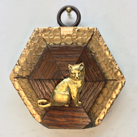 Gilt Wooden Frame with Cat (2.75