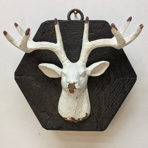 Bourbon Barrel Frame with Stag Head (4.25