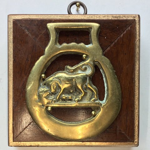 Wooden Frame with Bull Horse Brass (3.5