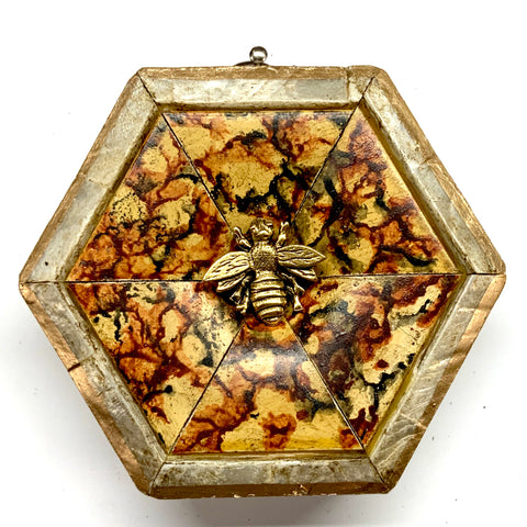 Mother of Pearl Frame with Napoleonic Bee (3.25