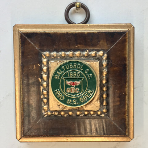 Gilt Wooden Frame with 1980 US OPEN Golf Marker (2.75
