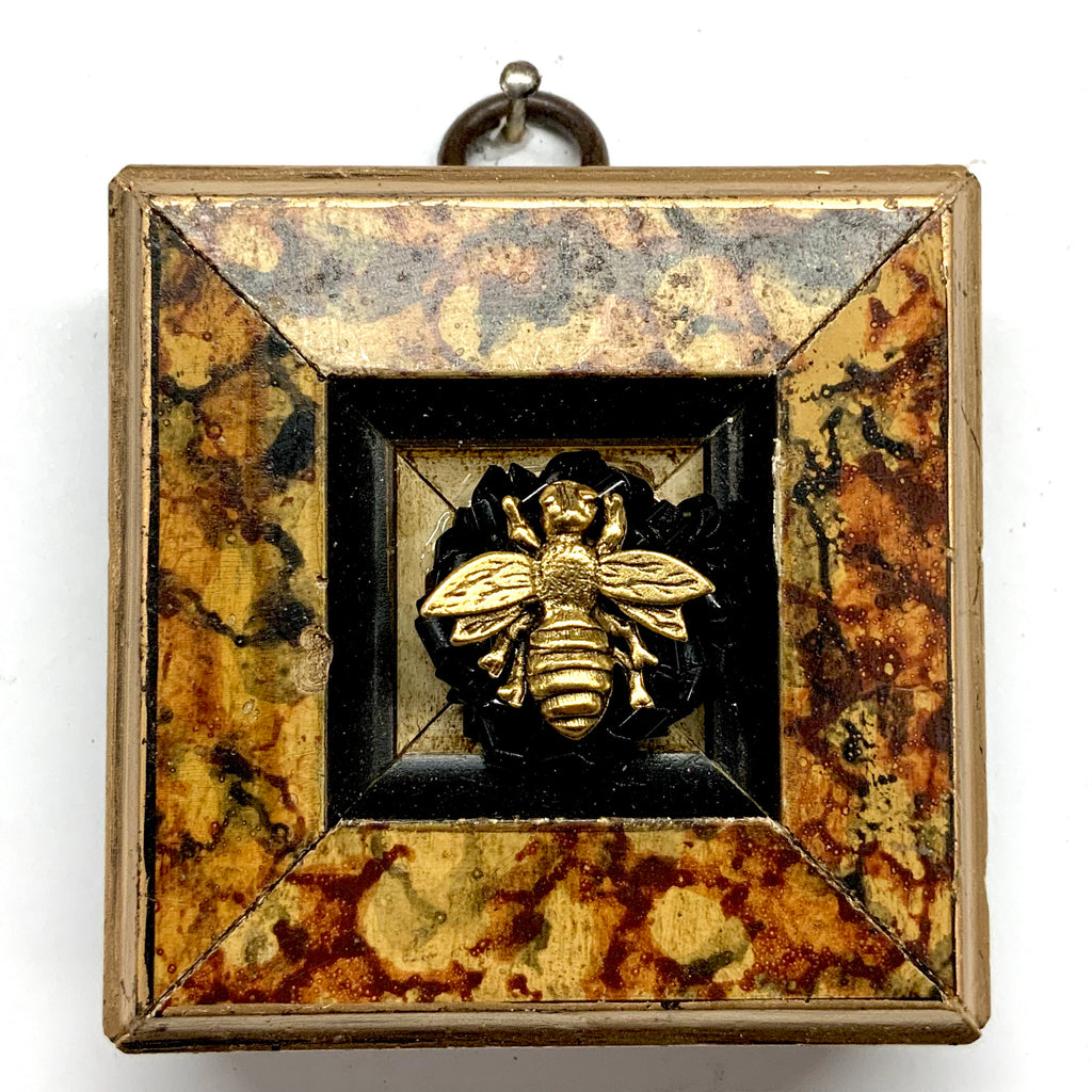 Marbled Frame with Napoleonic Bee on Brooch (2.75