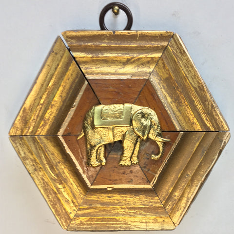 Gilt Wooden Frame with Elephant (3.75