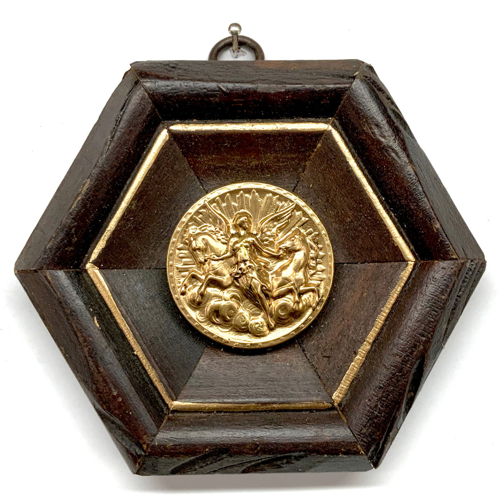 Wooden Frame with Athena Coin (4.5