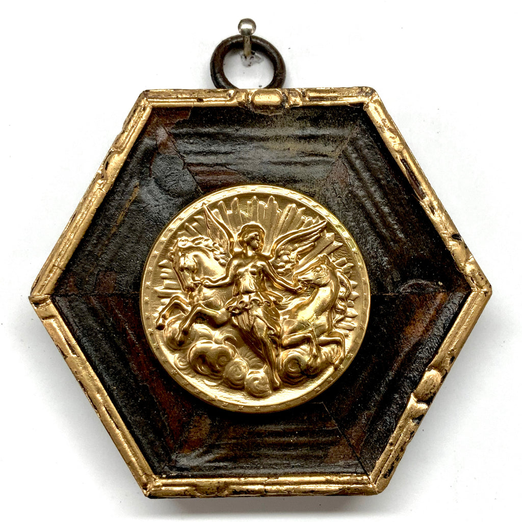 Wooden Frame with Athena Coin (3.25