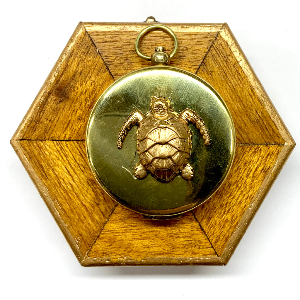 Wooden Frame with Turtle on Compass (3.75