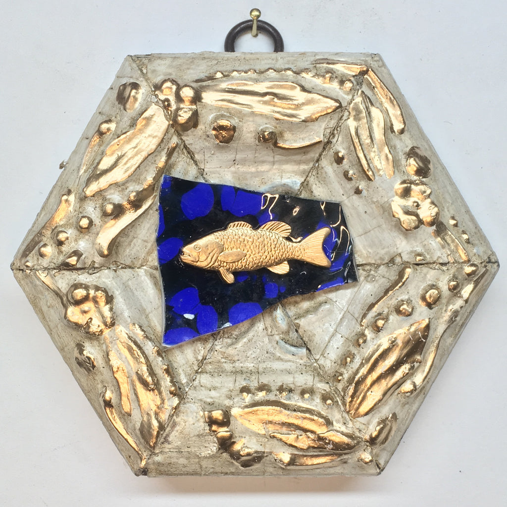 Painted Frame with Trout on Glass (4.5
