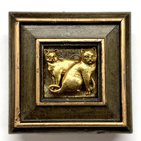 Painted Frame with Cats (3