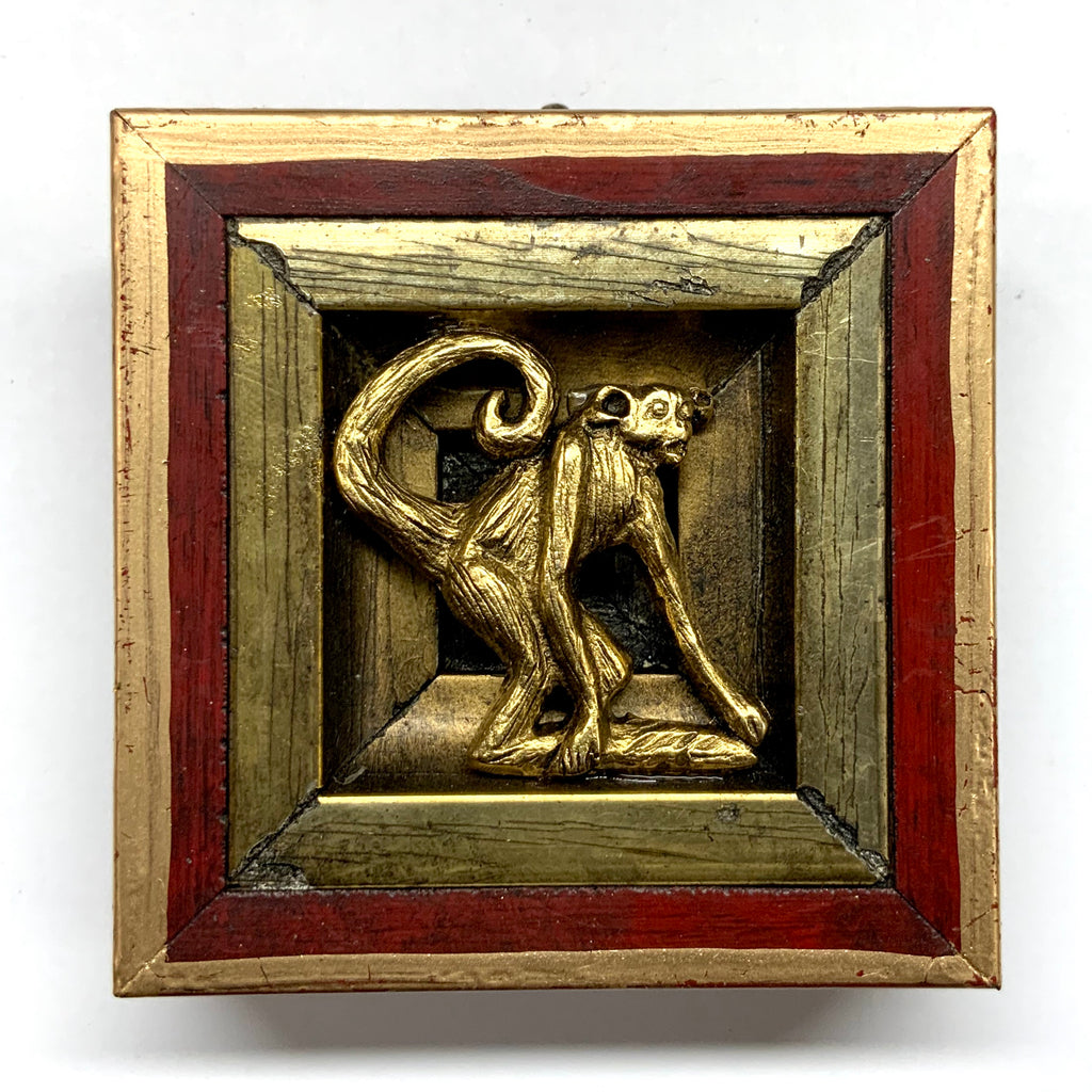 Lacquered Frame with Monkey (2.75