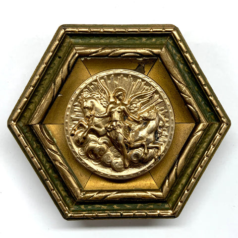 Painted Frame with Athena Coin (3.25