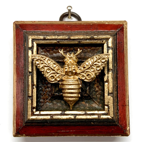 Lacquered Frame with Victorian Bee (2.75
