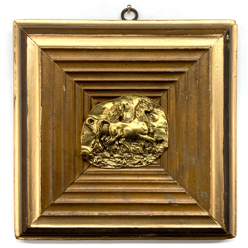 Gilt Frame with Horses (7