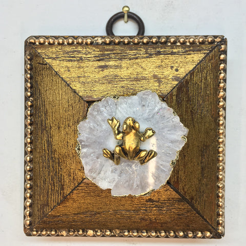 Gilt Frame with Frog on Quartz (2.5