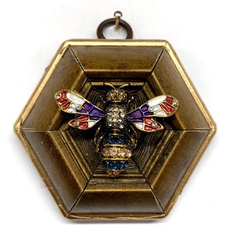 Gilt Frame with Enameled Bee (3.25