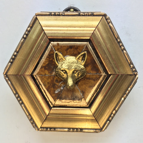 Gilt Burled Frame with Fox (3.25