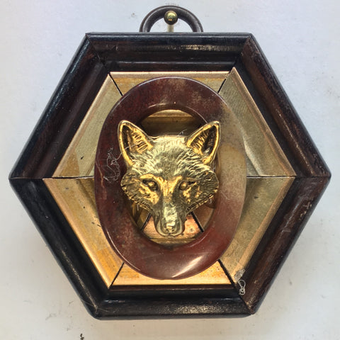 Gilt Wooden Frame with Fox (2.75