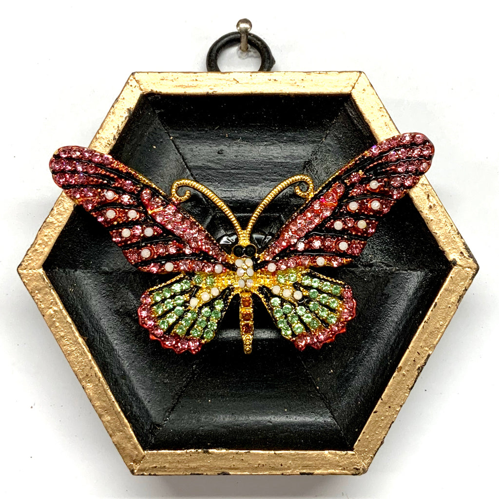 Painted Frame with Sparkle Butterfly Brooch (3.5