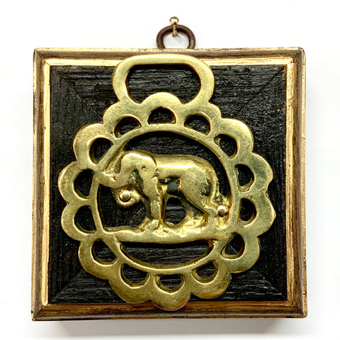 Bourbon Barrel Frame with Elephant Horse Brass (3.5