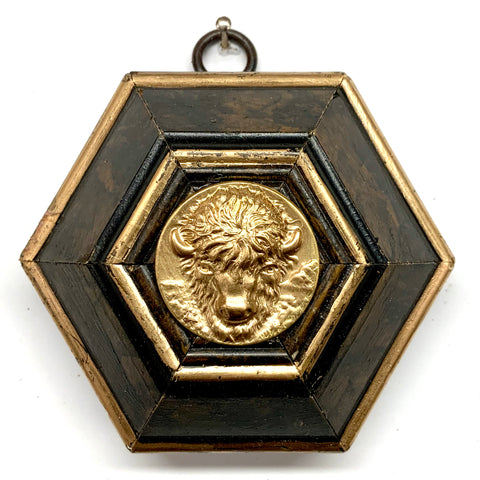 Burled Frame with Buffalo Coin (3.5