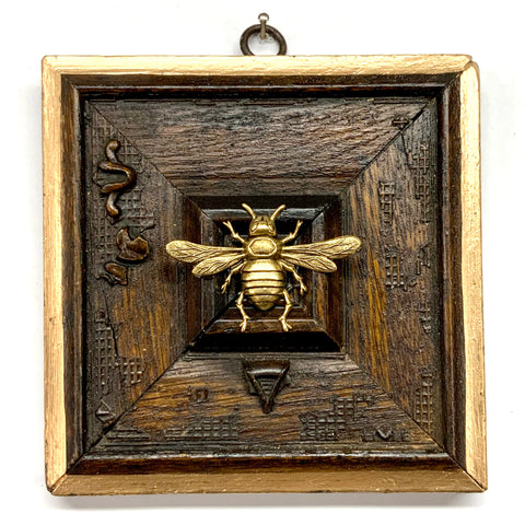 Wooden Frame with Italian Bee (5