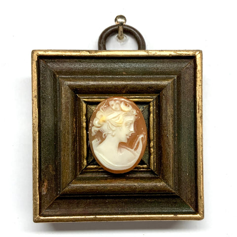 Wooden Frame with Cameo (1.75