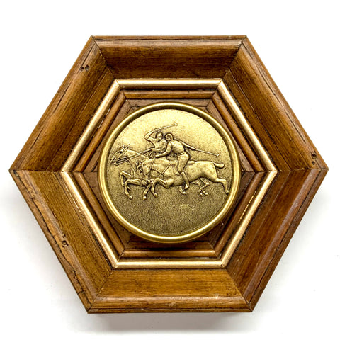 Wooden Frame with Polo Coin (6.25