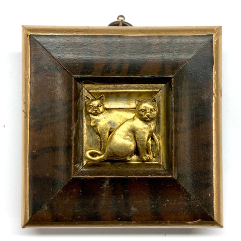 Burled Frame with Cats (3.25
