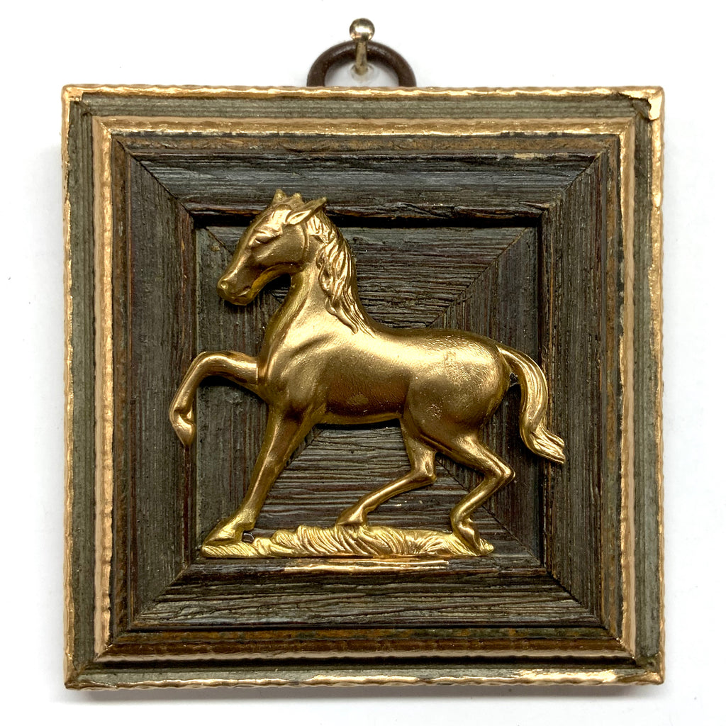 Wooden Frame with Horse (3