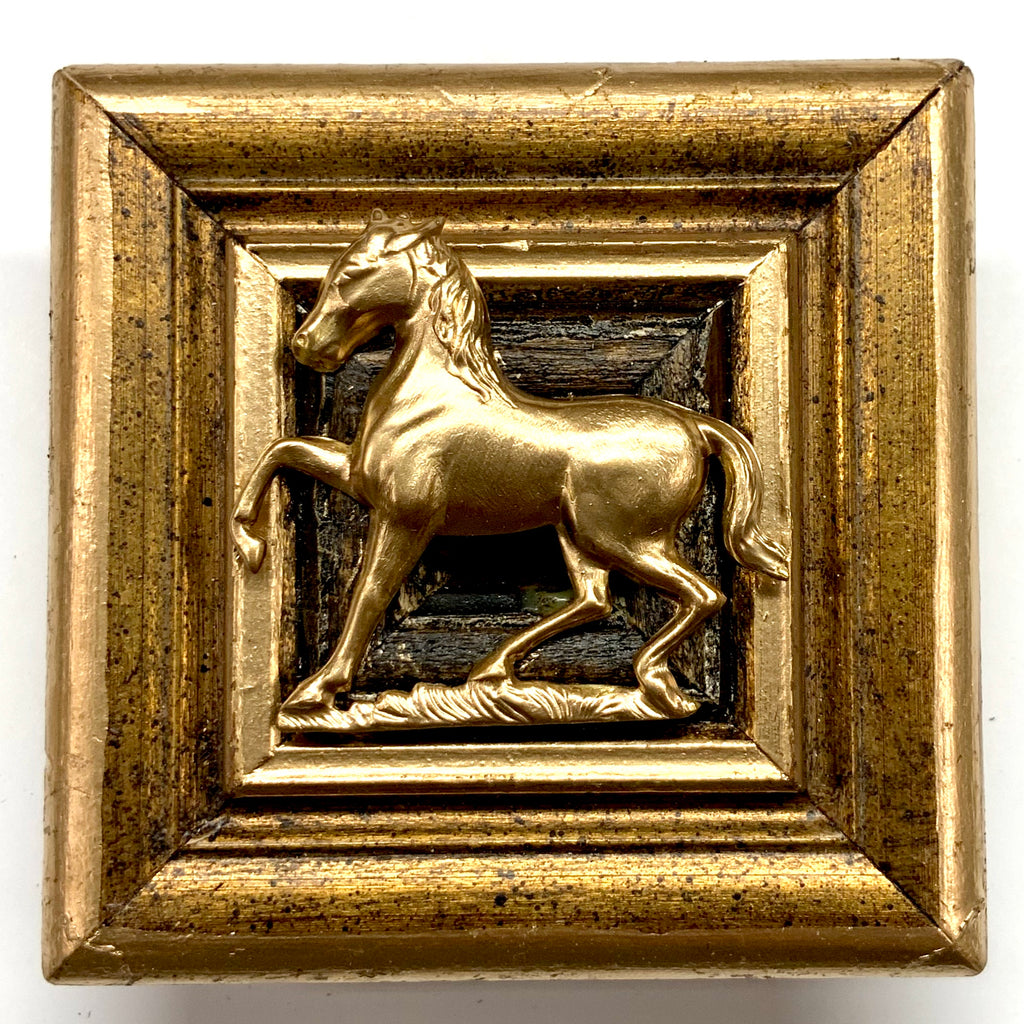 Gilt Frame with Horse (3.25