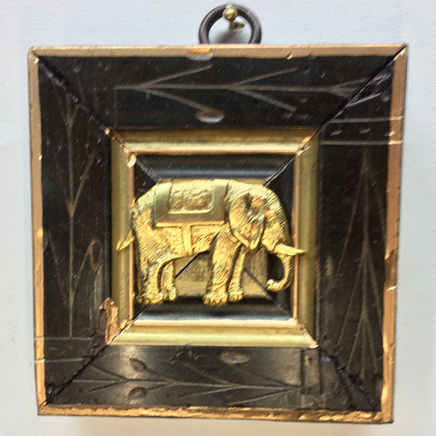 Etched Burled Frame with Elephant (3