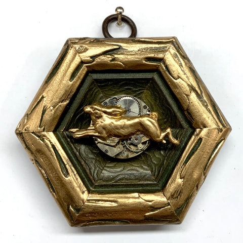 Painted Frame with Hare on Watch Movement (3.25