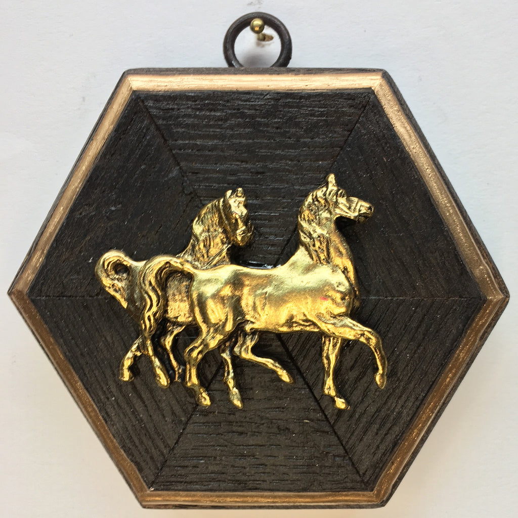 Bourbon Barrel Frame with Horses (4