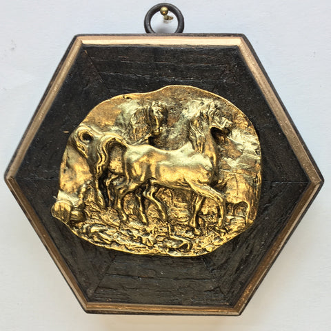 Bourbon Barrel Frame with Horses (4.5