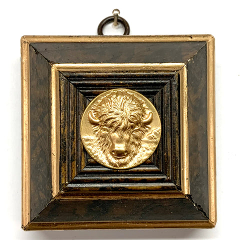 Burled Frame with Buffalo Coin (3.25