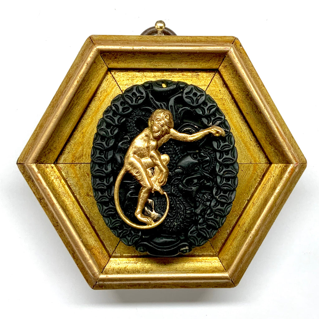 Gilt Frame with Monkey on Jade (3.5