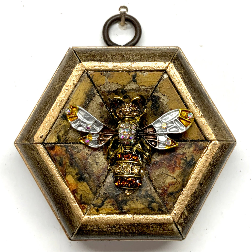 Wooden Frame with Enameled Bee (3