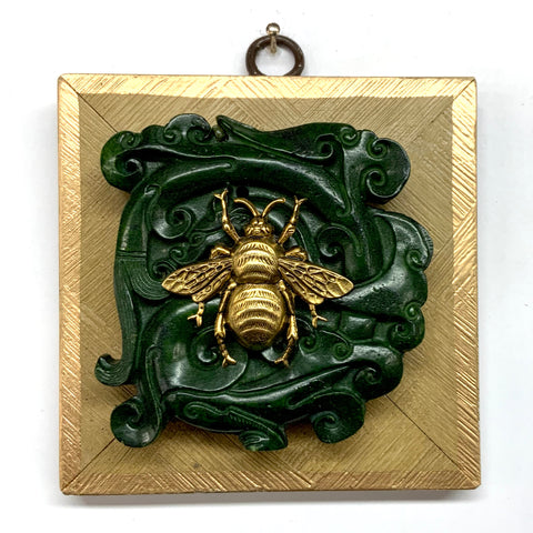 Gilt Frame with Grande Bee on Jade (4