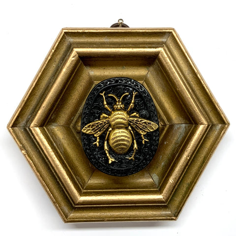 Gilt Frame with Grande Bee on Jade (5