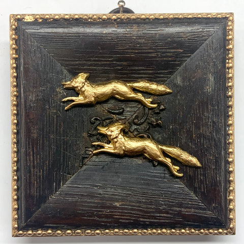 Wooden Frame with Foxes (3.75
