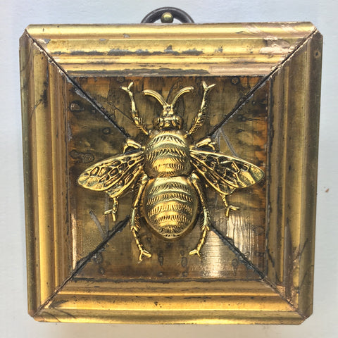 Gilt Marbled Frame with Grande Bee (2.75