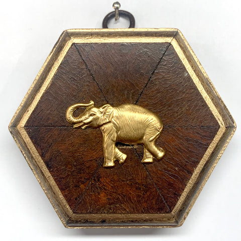 Burled Frame with Elephant (3.5