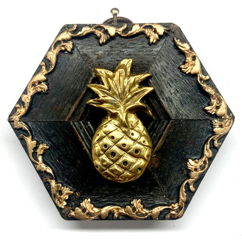 Wooden Frame with Pineapple (3.25